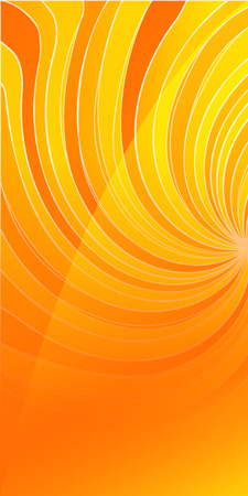 umschwung: Werbung Flyer Design-Elemente. Swirl orange Hintergrund mit elegante Grafik Twisted Umkehr hellen Lichtstrahlen aus. Vektor-Illustration f�r Vorlage Brosch�re Layout Brosch�re, Newsletter