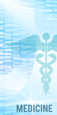 Blau medizinischen Hintergrund Zusammenfassung - Konzept Gesundheitswesen oder Medizintechnik. Vector Illustration, Grafikdesignelemente vertikale Banner, Flyer dental Service, Präsentationsvorlage Broschüre