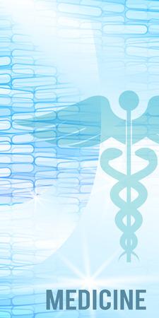 Blauwe medische achtergrond - concept van de gezondheidszorg of de geneeskunde-technologie. Vector Illustratie, Graphic Design elementen verticale banner, flyer tandheelkundige dienst, presentatiesjabloon brochure
