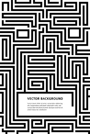 human relations: Abstract vector background design with maze texture and place for your text isolated. Good cover for a book on psychology, creative problem solving, logical thinking, the study of human relations