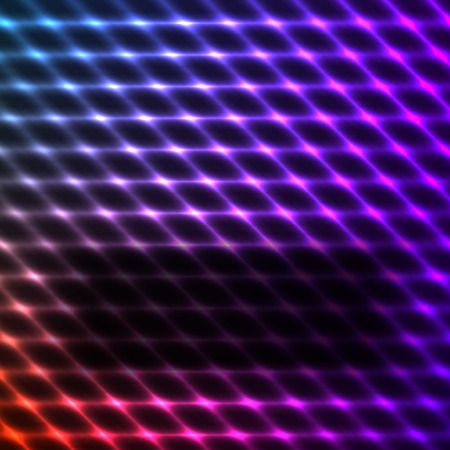 Modern design blue pink abstract background of bright glowing blur wave lines. Vector illustration  . Futuristic northern lights style night glow neon disco club or night party