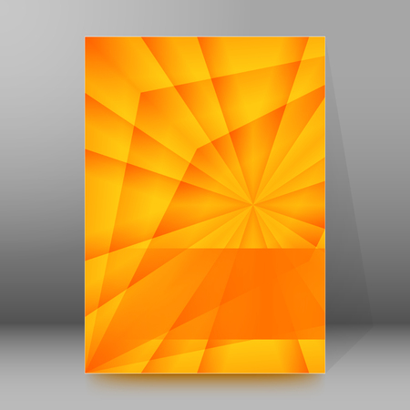 abstract fire: Summer background with yellow rays summer sun light burst.  Illustration