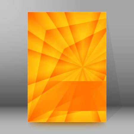 dazzling: Summer background with yellow rays summer sun light burst.  Illustration