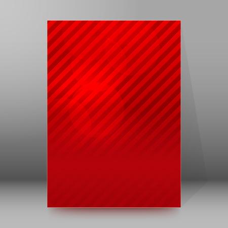 newsletter: Red background advertising brochure design elements.