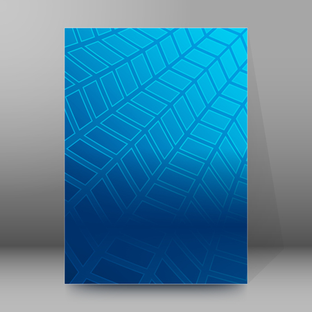 affiche: Abstract blue background advertising brochure design elements. Glowing light mosaic graphic form for elegant flyer.
