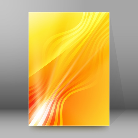 hot announcement: Summer background with yellow rays summer sun light burst. Hot announcement with space for your message.  Illustration