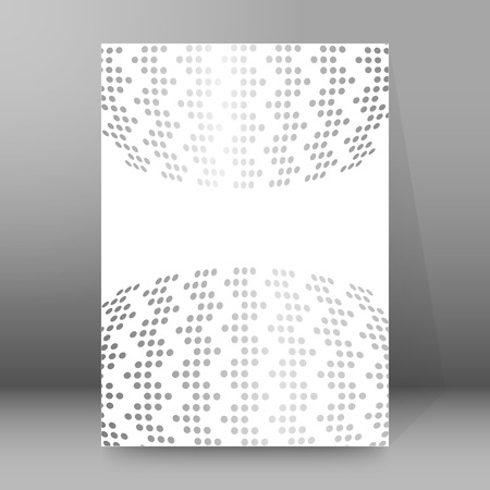 affiche: Modern geometrical grey background of bright glowing perspective. Gorgeous graphic image template.
