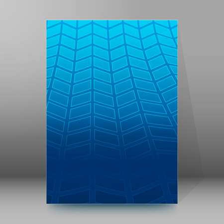 tire cover: Modern geometrical blue background of bright glowing perspective with squares. Gorgeous graphic image template.