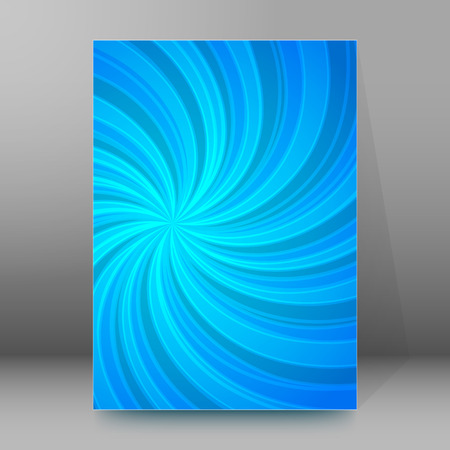 Abstract spiral background of bright glow perspective with lighting blue twist lines.  Illustration