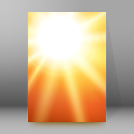 flame background: Summer background with orange yellow rays summer sun light burst.