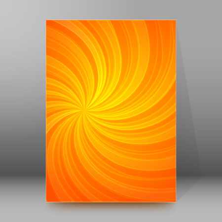 agro: Abstract spiral background of bright glow perspective with lighting orange twist lines.