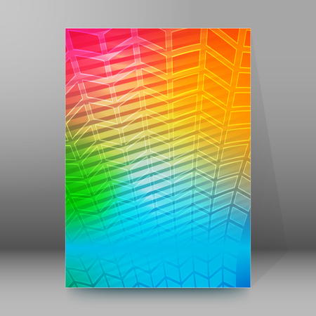 frash: Abstract background advertising brochure design elements. Glowing light effect glass graphic form for elegant flyer. Vector illustration EPS 10 for booklet layout page, leaflet template, newsletters