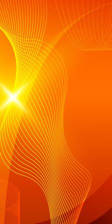 fond d'été à l'orange rayons jaunes soleil d'été salve de lumière. tourbillon chaud avec un espace pour votre message. Vector illustration EPS 10 pour la conception présentation, brochure de mise en page, livre de couverture et le magazine