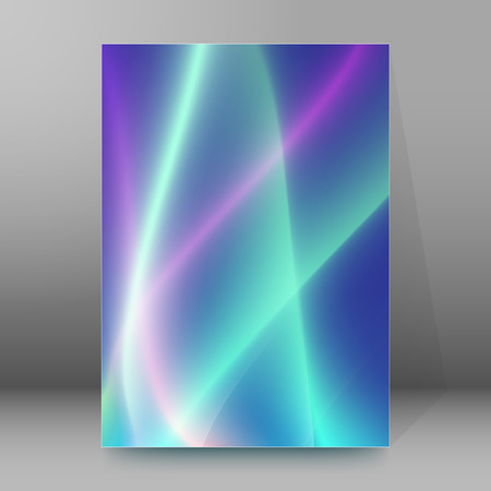 dancefloor: Blurred blue glowing background with rays lines light with space for your message. Vector illustration EPS 10 for design presentation, brochure layout page, cover book or magazine team farming