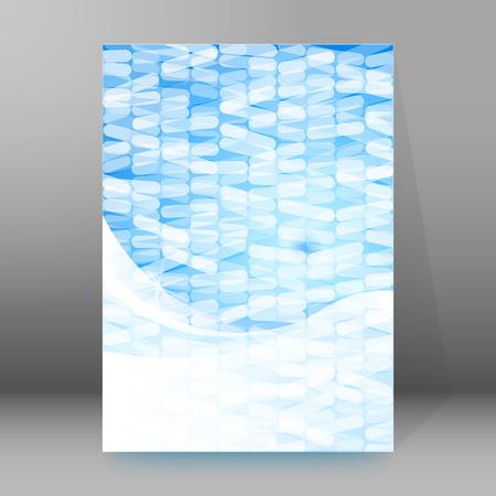newsletter: Design flyer label medical product. Vector illustration EPS 10 for infographics, presentation template, science and technology background, social media brochure layout
