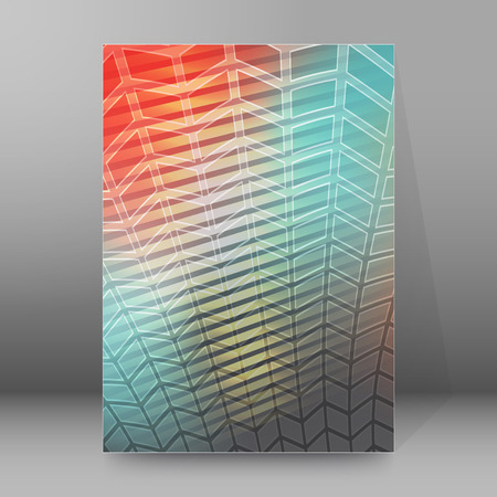newsletter: Abstract background advertising brochure design elements. Glowing light effect glass graphic form for elegant flyer. Vector illustration EPS 10 for booklet layout page, leaflet template, newsletters