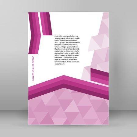 morado: flechas de líneas de fondo conceptos corporativos abstractos púrpuras con el triángulo. Ilustración del vector EPS 10 para la disposición de flujo de trabajo de presentación, cubierta informe, Modelo de la bandera, la revista página, elementos de diseño de folleto Vectores