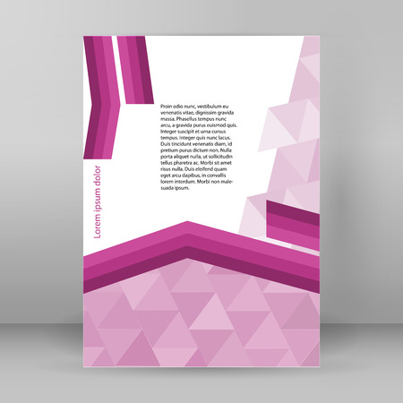 arrows background: Purple abstract line arrows background corporate concepts with triangle. Vector illustration EPS 10 for business workflow layout, report cover, banner template, page magazine, brochure design elements Illustration