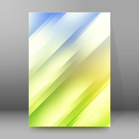 Modern design spring abstract background of bright glowing blur oblique rays. Graphic Vector illustration EPS 10. Futuristic lights style for wellness or beauty theme booklet Imagens - 49718416