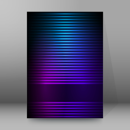 newsletter: Abstract background advertising brochure design elements. Futuristic style glow neon disco club, night party for elegant flyer. Vector illustration EPS 10 for layout page newsletters, vertical banner