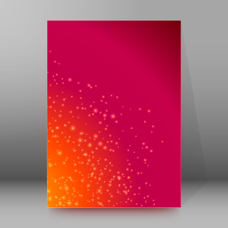 the big bang: Advertisement flyer design elements.The universe background with big bang birth star. Futuristic style glow with space for your message. Vector illustration EPS 10 for template brochure, newsletters
