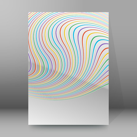 new products: Modern geometrical grey background of bright glowing perspective with colors lines of light. Gorgeous graphic image template. Abstract vector Illustration eps 10 for new products or sales