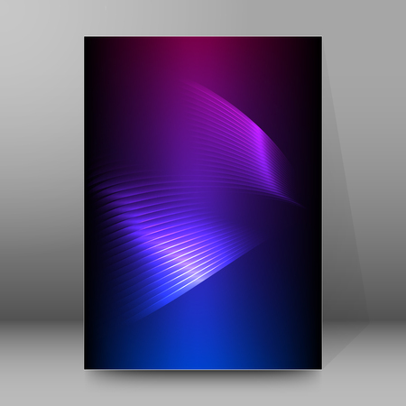 Abstract spiral background of bright glow perspective with lighting blue purple lines. Vector Illustration eps 10. Can be used for business brochure, flyer party, design banners, cover book, label