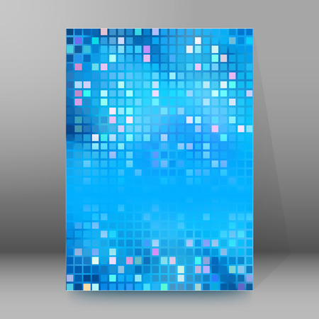 tire cover: Blur blue gradient background of bright perspective with lighting glowing square. Graphic image templatev. Abstract vector Illustration eps 10 for your business brochure