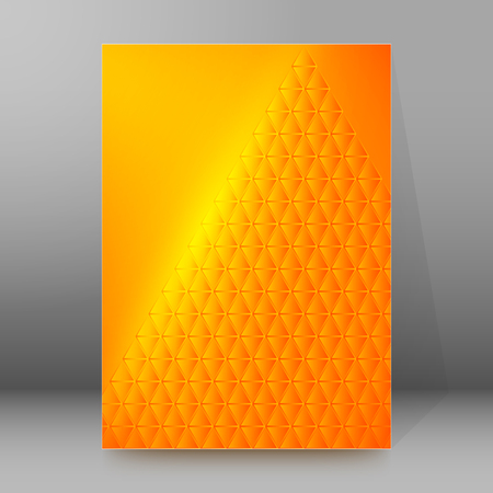 oil crops: Abstract background advertising brochure design elements pyramid. Glowing light effect glass graphic form for elegant flyer. Vector illustration EPS 10 for booklet layout page, newsletters, banner