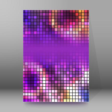 Diseño de estilo moderno en el desenfoque de fondo púrpura con efecto digital cuadrado. Borrosa luz de iluminación degradada. Ilustración del vector EPS 10 para la plantilla de folleto tema de bienestar, volante del club de baile del partido Ilustración de vector