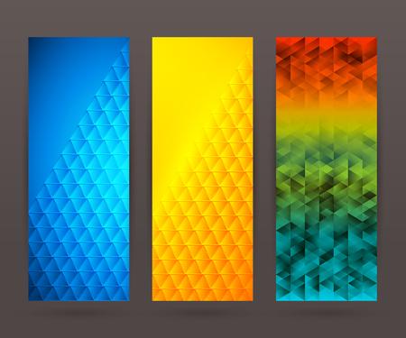 frash: Design elements business presentation template. Vector illustration set vertical web banners background, backdrop glow light effect .