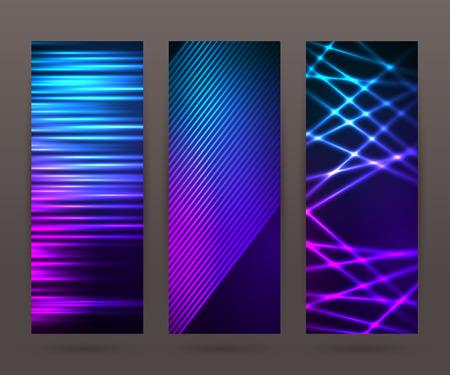 Design-Elemente Business-Präsentation Vorlage. Vektor-Illustration vertikale Web-Banner Hintergrund, Hintergrund leuchten Lichteffekt eingestellt.