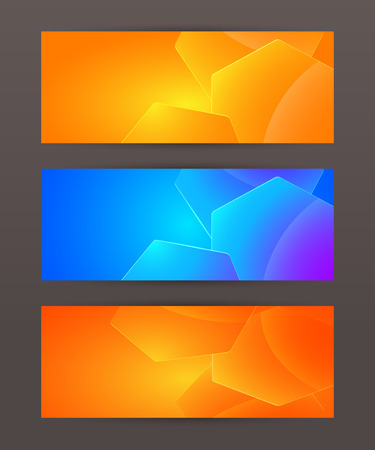 context: Design elements business presentation template. Vector illustration horizontal web banners background, backdrop glow light effect .  Illustration