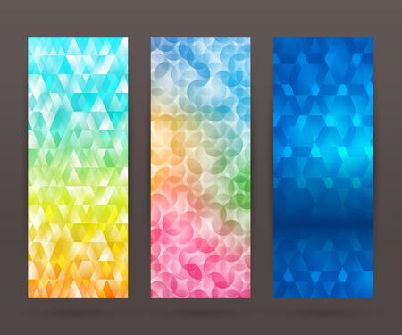 tehnology: Design elements business presentation template. Vector illustration set vertical web banners background, backdrop glow light effect .  Illustration