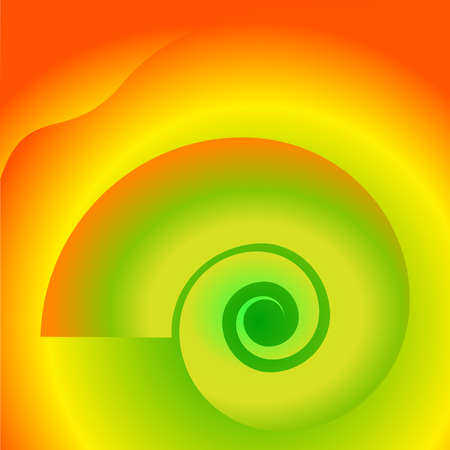 Abstract spiral background of bright glow perspective with lighting lines. Vector Illustration