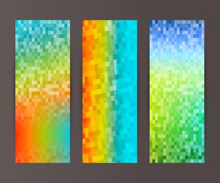 frash: Design elements business presentation template. Vector illustration set vertical web banners background, backdrop glow light effect .  Illustration