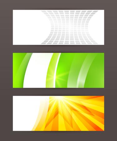 comercial: Design elements business presentation template. Vector illustration horizontal web banners background, backdrop glow light effect .  Illustration