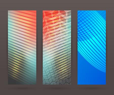 Design elements business presentation template. Vector illustration set vertical web banners background, backdrop glow light effect .