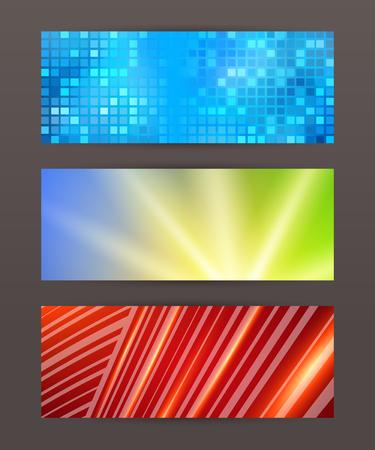 comercial: Design elements business presentation template. Vector illustration horizontal web banners background, backdrop glow light effect .