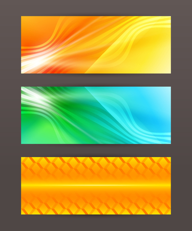 horison: Design elements business presentation template. Vector illustration horizontal web banners background, backdrop glow light effect .