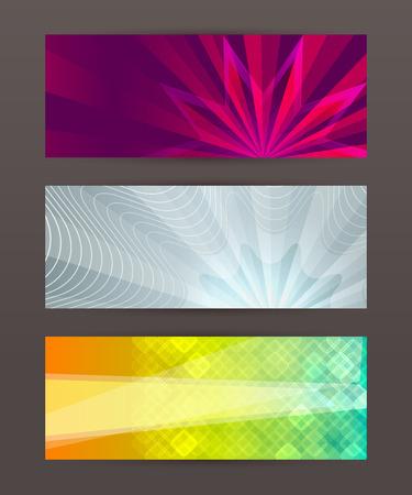 horison: Design elements business presentation template. Vector illustration horizontal web banners background, backdrop glow light effect .  Illustration