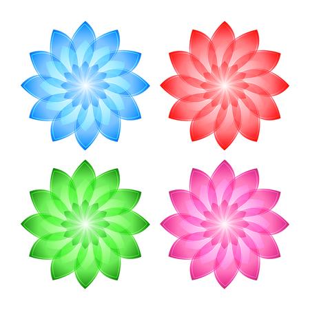 Spa wellness blumen  Set Flowers Abstract Vector Icons Design Template. Wellness & SPA ...