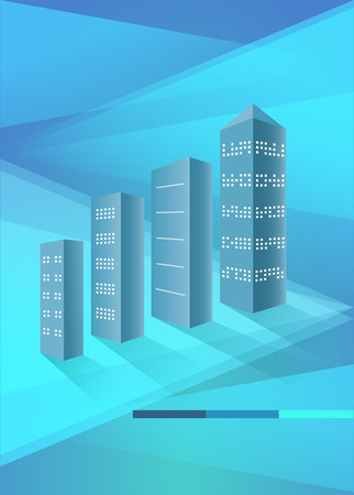 upward movements: Real estate concept icon background with illustration of architectural building. Vector for workflow layout, diagram number options, step up options, banner template, brochure, infographic