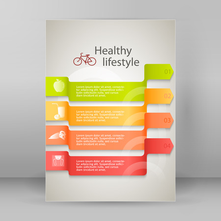 natural juices: Healthy lifestyle and organic food icons over background on infographics. Vector illustration