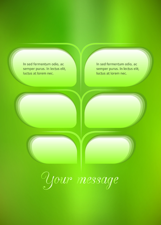 affiche: Advertisement flyer design elements. Mesh yellow green gradient background with elegant graphic mosaic bright light. Vector illustration