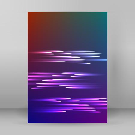 Achtergrond reclamefolder design elementen. Futuristische stijl gloed neon disco club, 's nachts partij voor elegante flyer. illustratie voor de lay-out pagina nieuwsbrieven, verticale banner