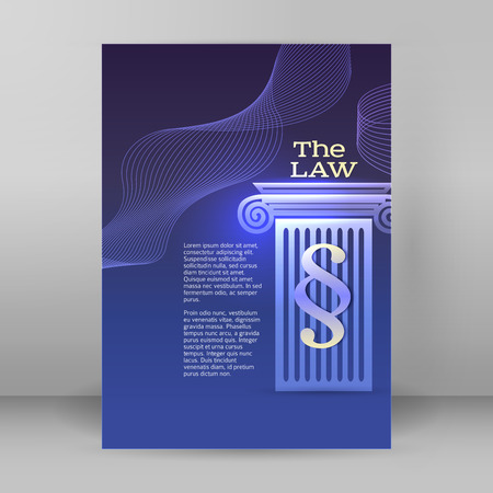 solicitor: Modern design style infographic for Legal & law firm. Vector illustration