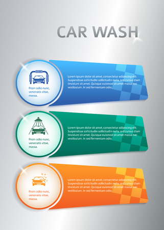 tire cover: Car service business presentation template on steel background. Vector illustration