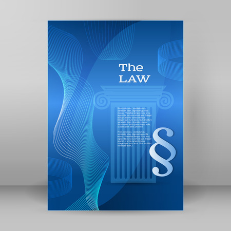 barrister: Modern design style infographic for Legal & law firm. Vector illustration
