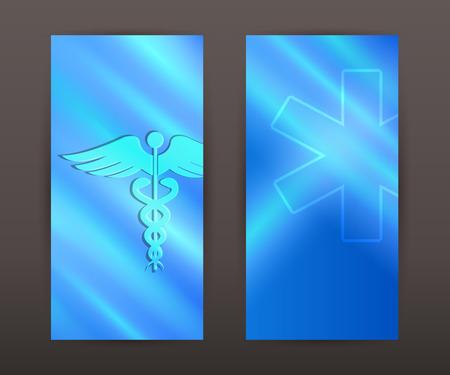 medicine background: Blue medical background abstract - concept health care or medicine technology. Vector Illustration